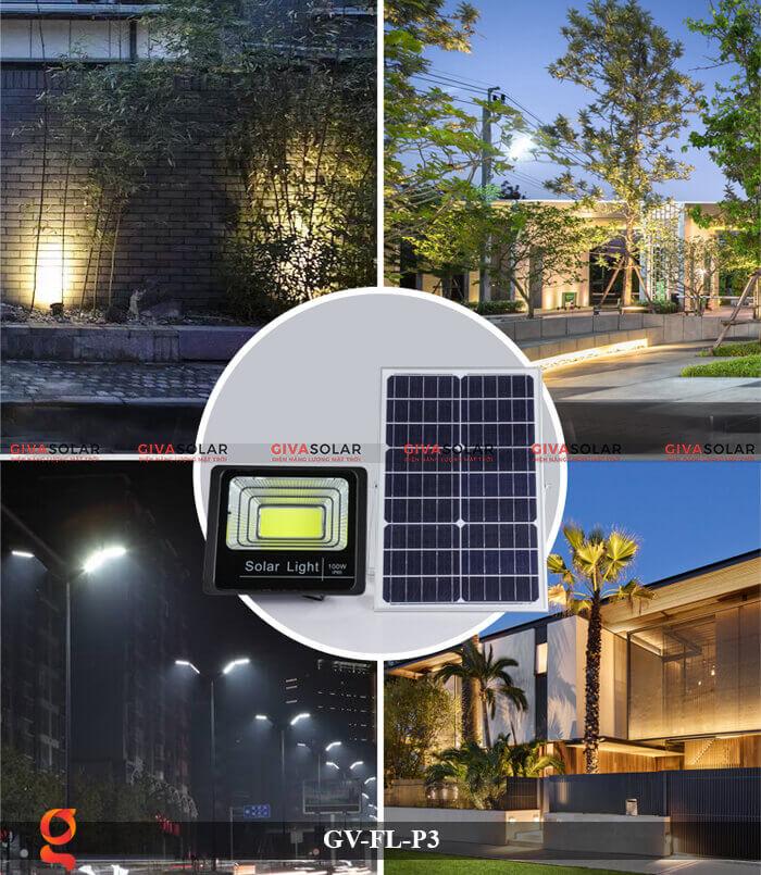 Đèn pha cảm biến năng lượng mặt trời GV-FL-P3 6