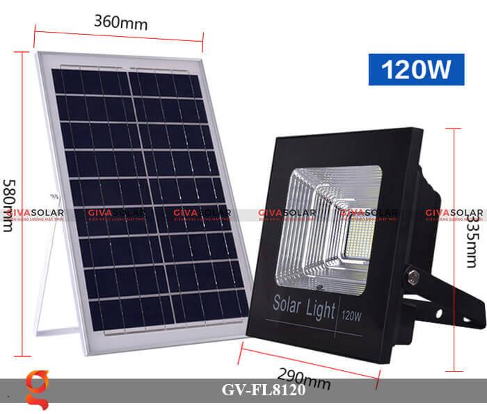 Đèn LED pha năng lượng mặt trời GV-FL8120 1