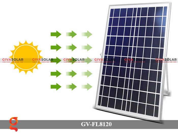 Đèn LED pha năng lượng mặt trời GV-FL8120 8