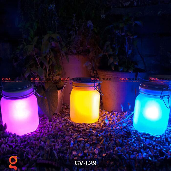 Đèn trang trí đổi màu hình lọ thủy tinh GV-L29 1