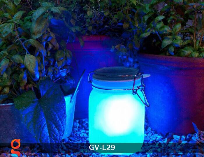 Đèn trang trí đổi màu hình lọ thủy tinh GV-L29 10