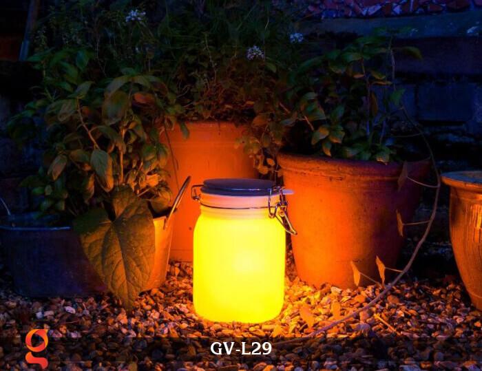 Đèn trang trí đổi màu hình lọ thủy tinh GV-L29 11