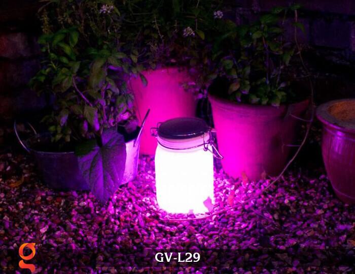 Đèn trang trí đổi màu hình lọ thủy tinh GV-L29 12