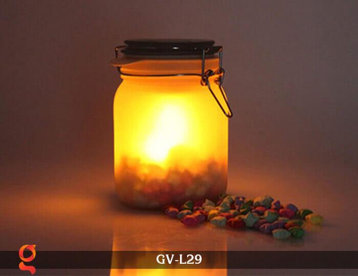 Đèn trang trí đổi màu hình lọ thủy tinh GV-L29 13