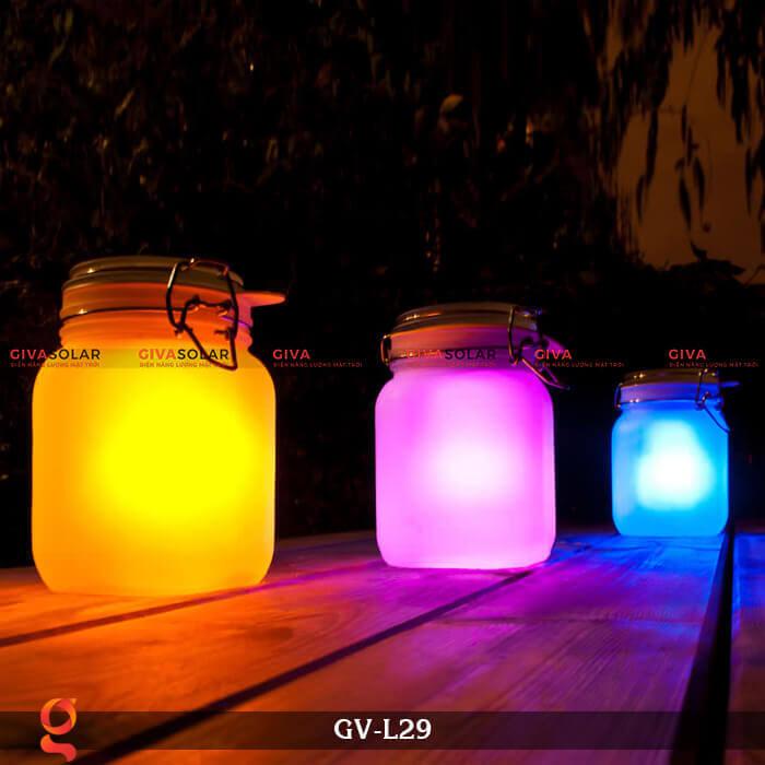 Đèn trang trí đổi màu hình lọ thủy tinh GV-L29 2