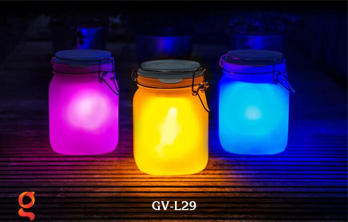 Đèn trang trí đổi màu hình lọ thủy tinh GV-L29 3