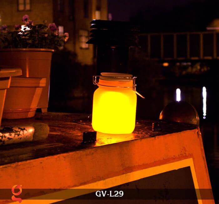 Đèn trang trí đổi màu hình lọ thủy tinh GV-L29 4