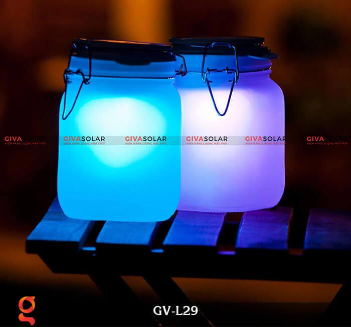 Đèn trang trí đổi màu hình lọ thủy tinh GV-L29 5