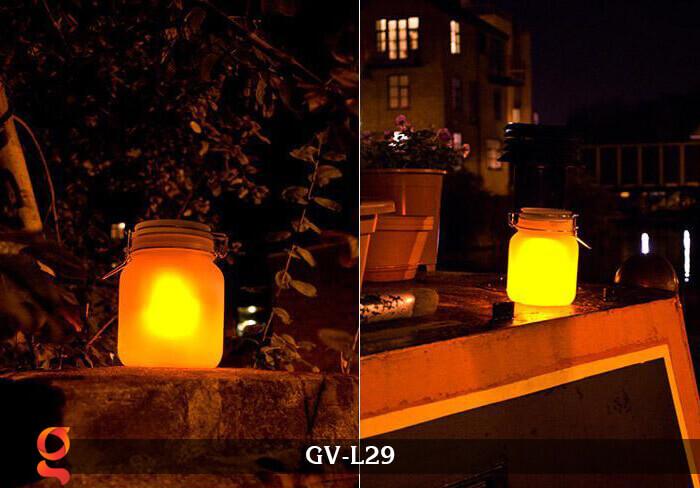 Đèn trang trí đổi màu hình lọ thủy tinh GV-L29 6