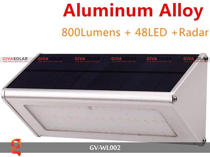 Đèn Led treo tường năng lượng mặt trời GV-WL002 1