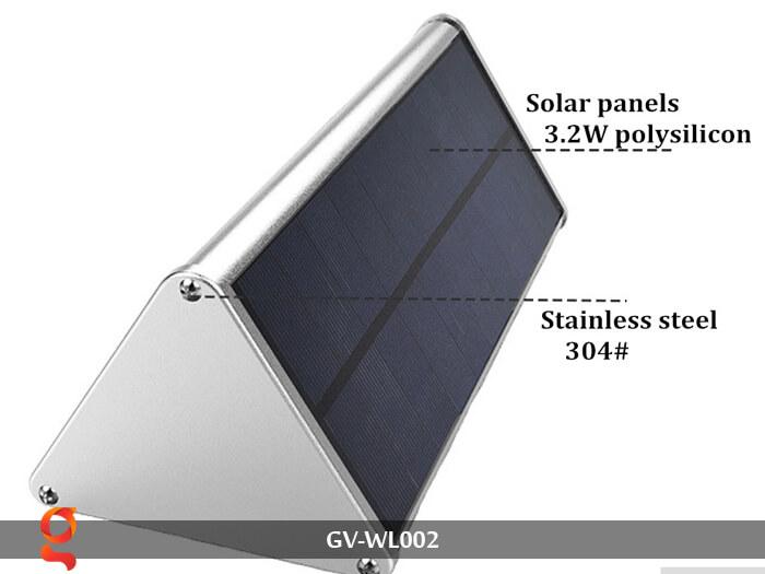 Đèn Led treo tường năng lượng mặt trời GV-WL002 2