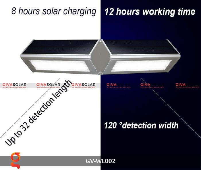 Đèn Led treo tường năng lượng mặt trời GV-WL002 6