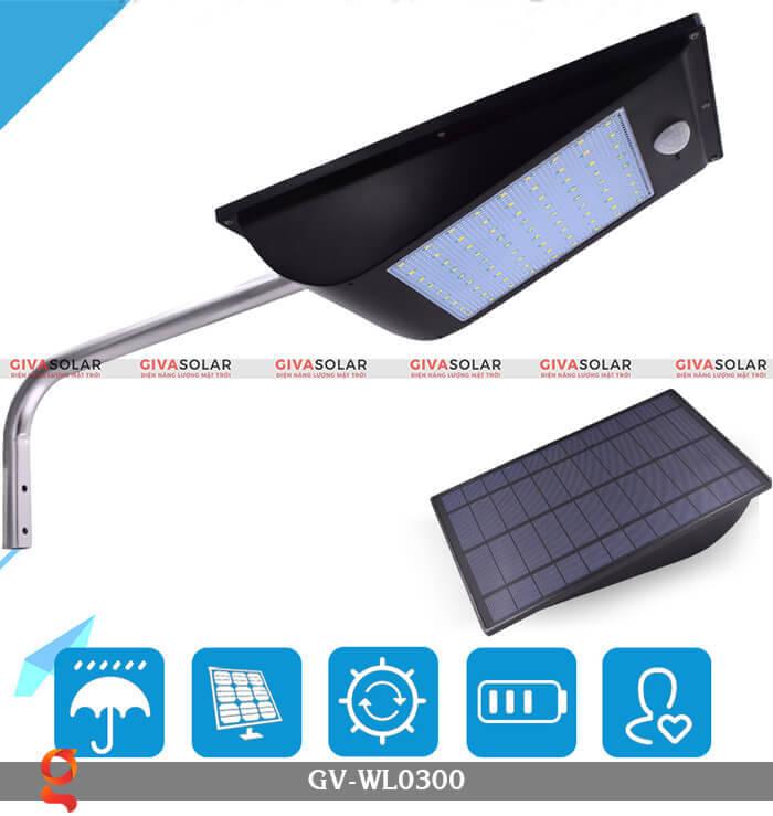 Đèn treo tường năng lượng mặt trời GV-WL0300 1
