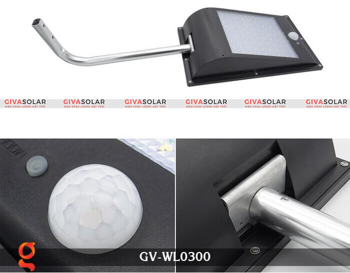 Đèn treo tường năng lượng mặt trời GV-WL0300 3