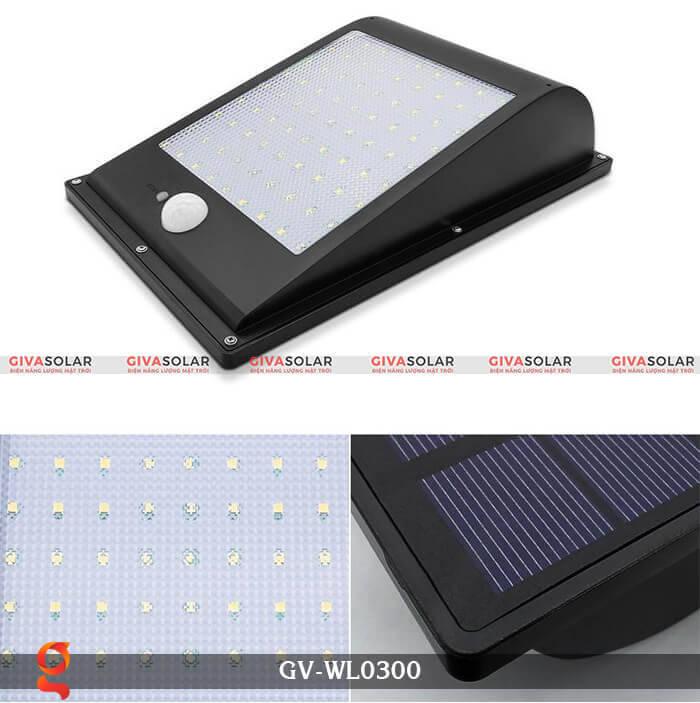 Đèn treo tường năng lượng mặt trời GV-WL0300 4