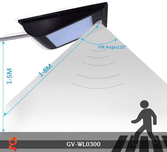Đèn treo tường năng lượng mặt trời GV-WL0300 7