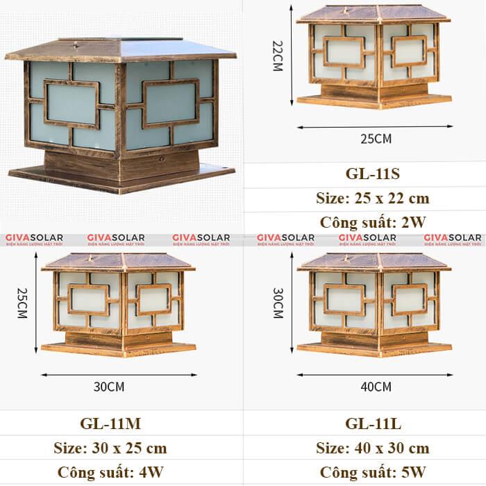 Đèn trụ cổng năng lượng mặt trời GV-GL11 1