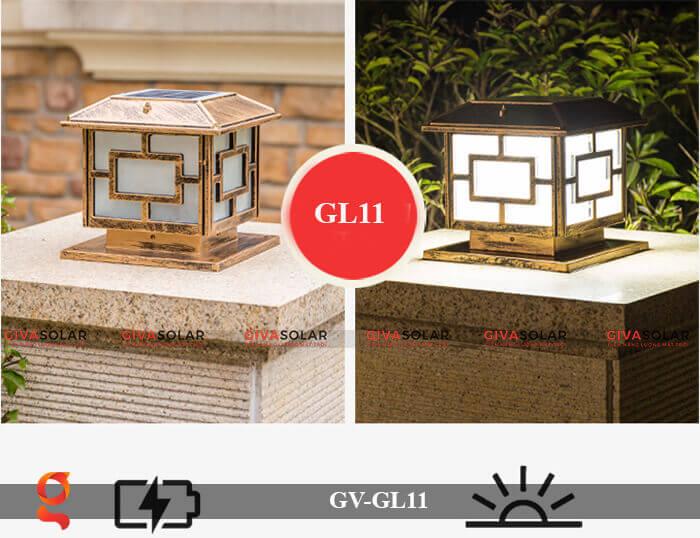 Đèn trụ cổng năng lượng mặt trời GV-GL11 11