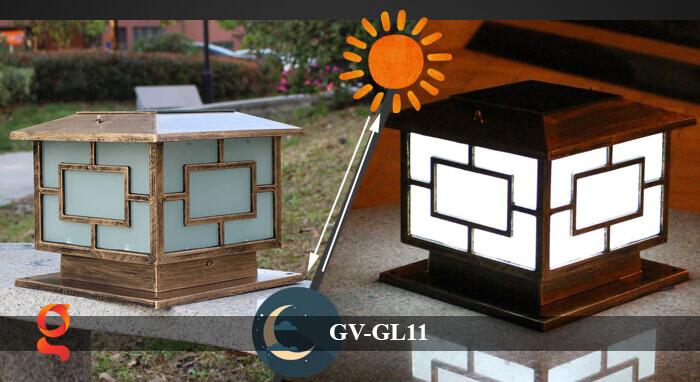 Đèn trụ cổng năng lượng mặt trời GV-GL11 2