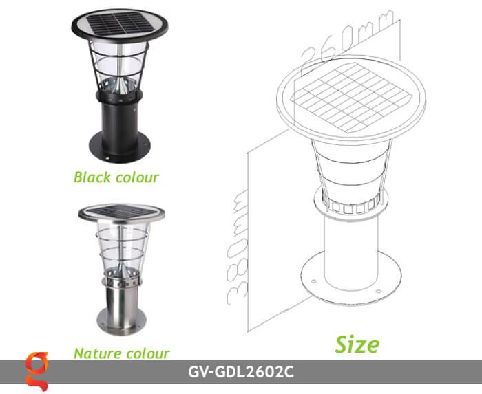 Đèn lối đi năng lượng mặt trời GV-GDL2602C 2