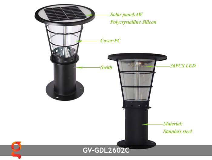 Đèn lối đi năng lượng mặt trời GV-GDL2602C 3