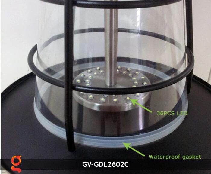 Đèn lối đi năng lượng mặt trời GV-GDL2602C 6