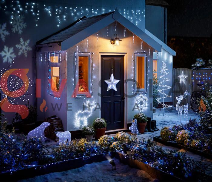Hướng dẫn lắp đặt đèn trang trí Noel ngoài trời 1