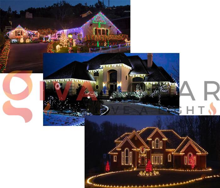 Hướng dẫn lắp đặt đèn trang trí Noel ngoài trời 2