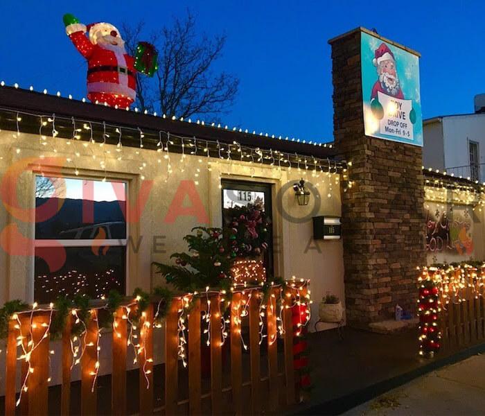 Hướng dẫn lắp đặt đèn trang trí Noel ngoài trời 9