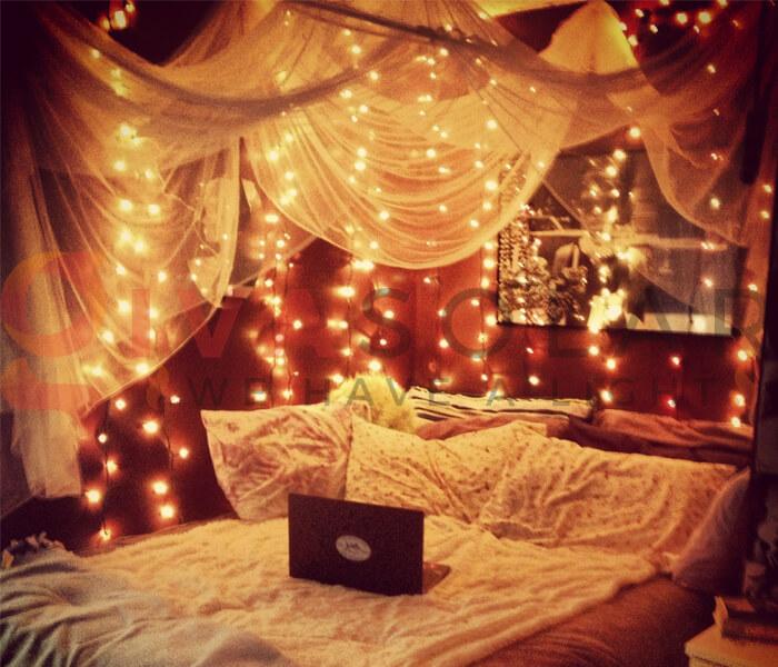 Hướng dẫn treo đèn trang trí cho phòng ngủ