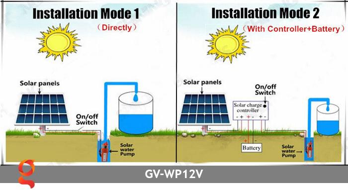 Máy bơm nước năng lượng mặt trời GV-WP12V 11