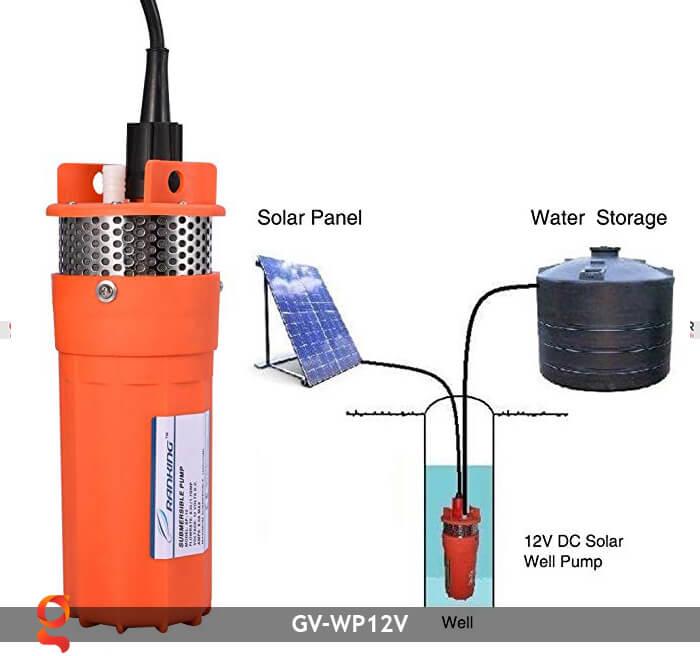 Máy bơm nước năng lượng mặt trời GV-WP12V 12