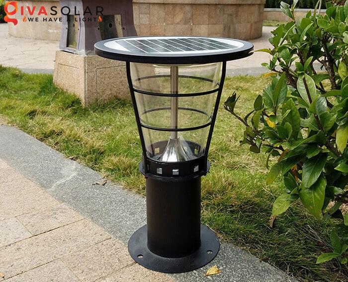 Đèn trụ cổng năng lượng mặt trời kiểu đứng cao