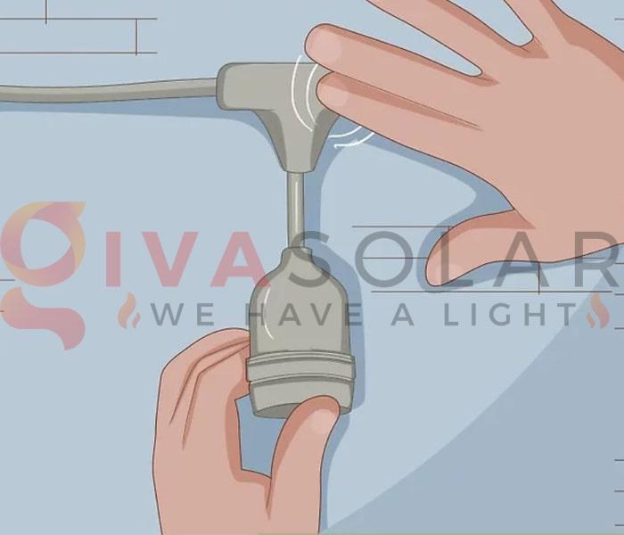 Treo đèn trang trí noel ngoài trời không cần sử dụng đinh 10
