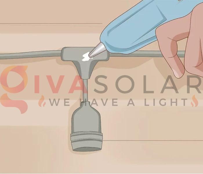 Treo đèn trang trí noel ngoài trời không cần sử dụng đinh 9