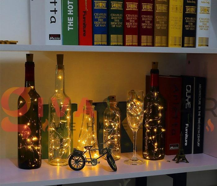 Ý tưởng sử dụng dây đèn trang trí sáng tạo và đẹp mắt 11