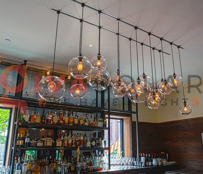 Ý tưởng sử dụng đèn trang trí quán bar 7