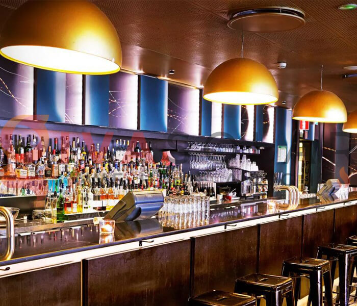 Ý tưởng sử dụng đèn trang trí quán bar 9