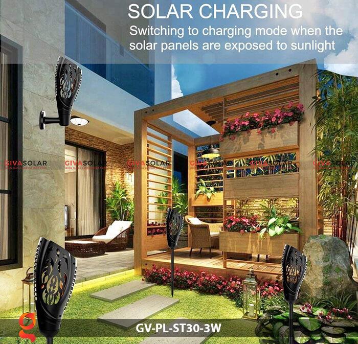 Đèn ngọn đuốc năng lượng mặt trời GV-PL-ST30-3W 10