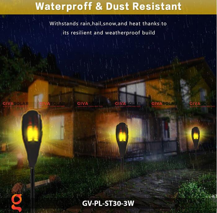 Đèn ngọn đuốc năng lượng mặt trời GV-PL-ST30-3W 6