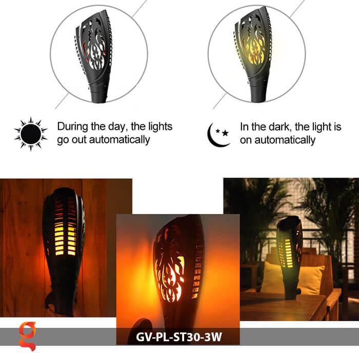 Đèn ngọn đuốc năng lượng mặt trời GV-PL-ST30-3W 7