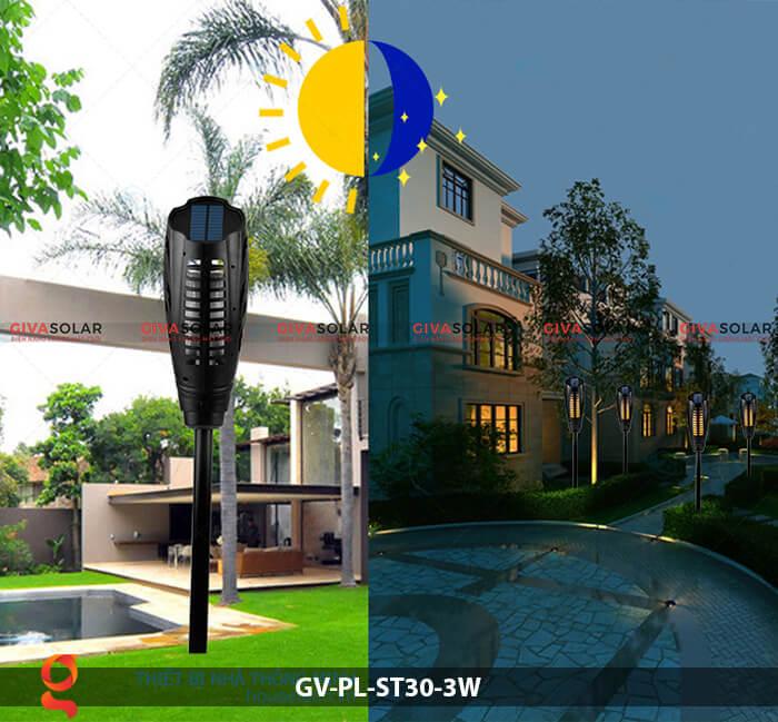 Đèn ngọn đuốc năng lượng mặt trời GV-PL-ST30-3W 8