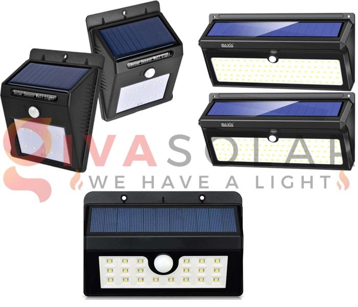 Các loại đèn treo tường năng lượng mặt trời 8