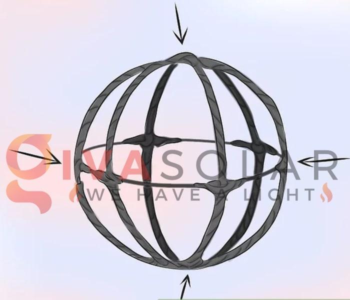Cách làm quả cầu đèn trang trí 4
