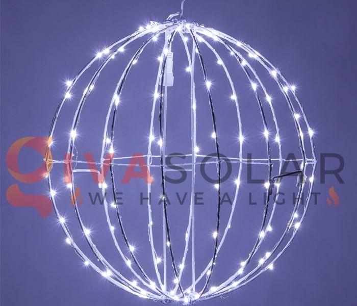 Cách làm quả cầu đèn trang trí 5