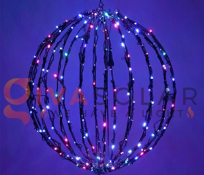 Cách làm quả cầu đèn trang trí 6