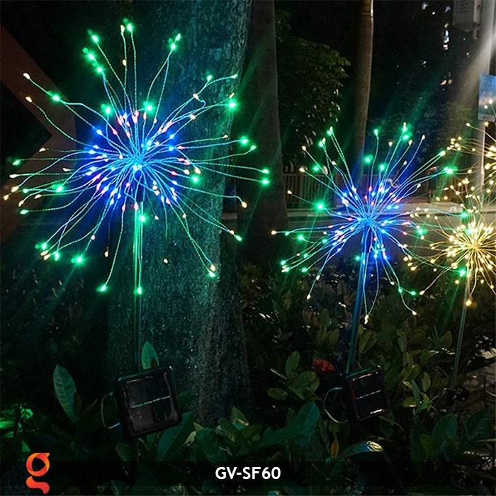 Đèn trang trí cắm đất hiệu ứng pháo hoa NLMT GV-SF60 10