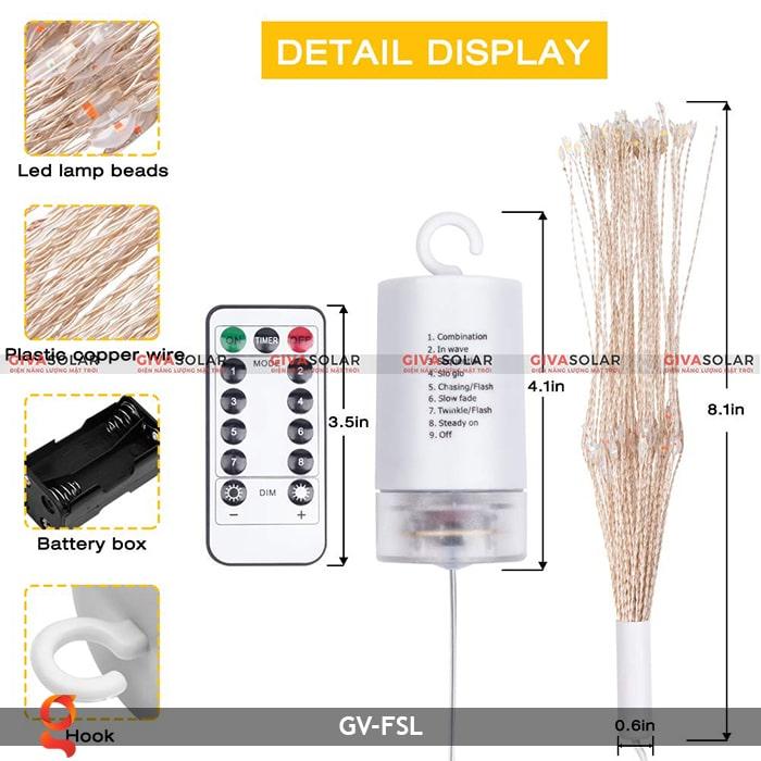 Dây đèn led trang trí hiệu ứng pháo hoa GV-FSL 1