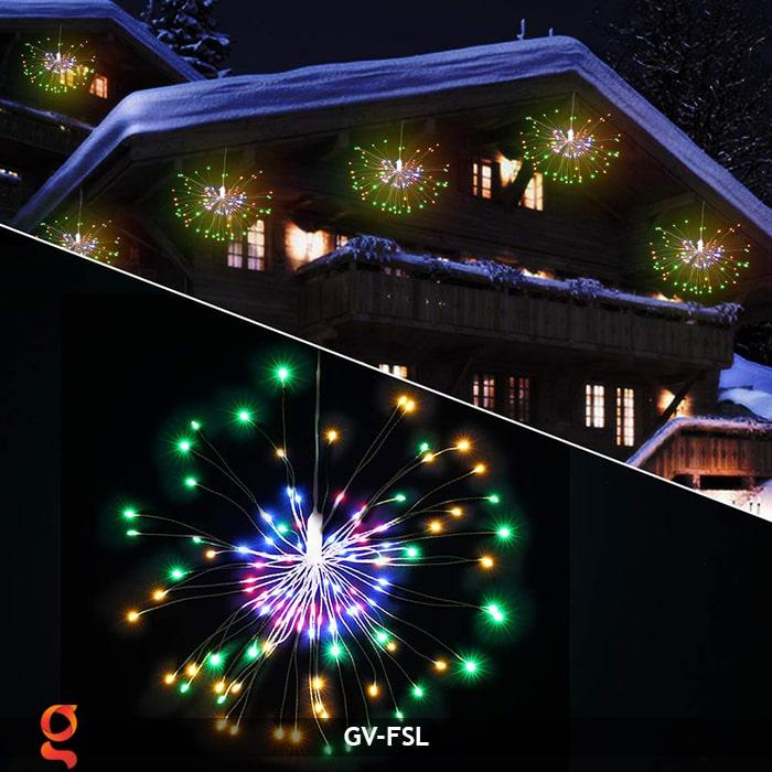 Dây đèn led trang trí hiệu ứng pháo hoa GV-FSL 12