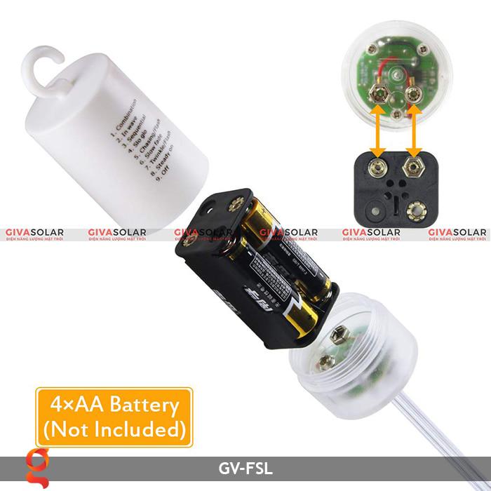 Dây đèn led trang trí hiệu ứng pháo hoa GV-FSL 4